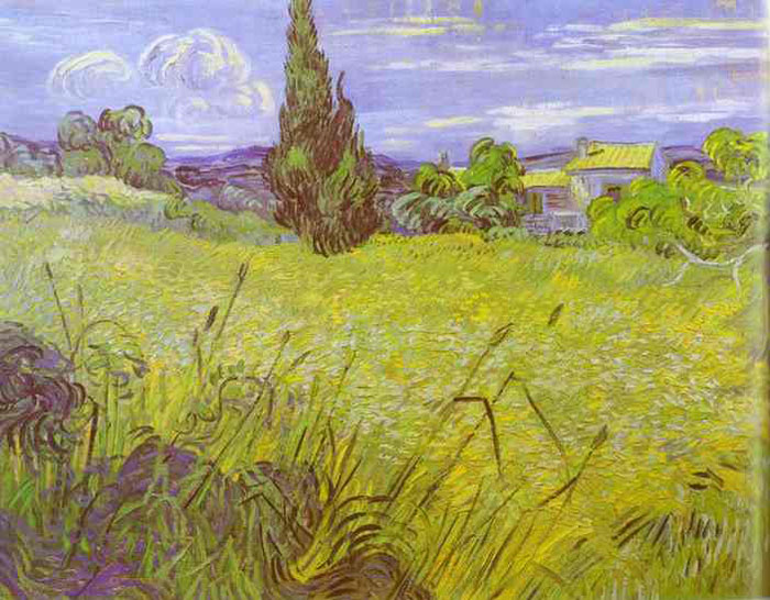 Vincent van Gogh  Reproductions- Wheat Field with Cypress. Saint-Remy, 1889