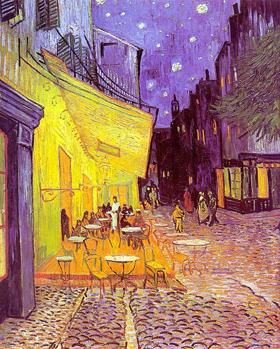 Vincent van Gogh  Reproductions-Cafe Terrace at Night, 1888
