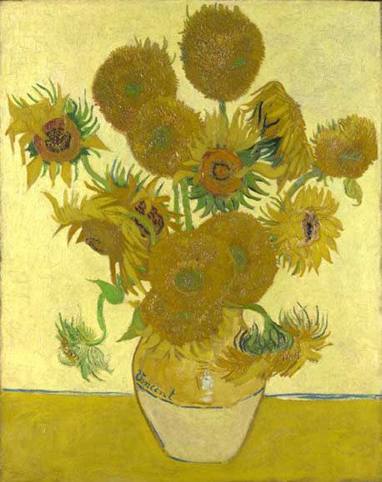 Vincent van Gogh  Reproductions-Sunflowers, 1888