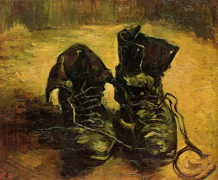 Vincent van Gogh  Reproductions-A Pair of Shoes, 1886