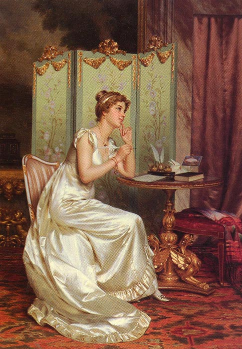 Vittorio Reggianini Reproductions-The Answer, 1858