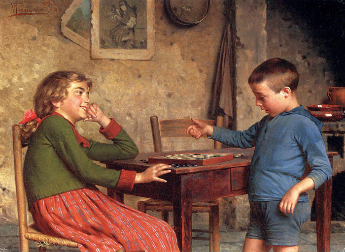 Vittorio Reggianini Reproductions-The Drafts Players