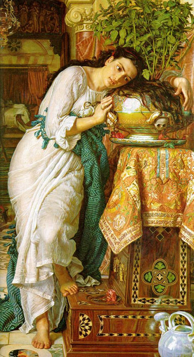 Paintings Reproductions Hunt, William Holman Isabella and the Pot of Basil, 1867
