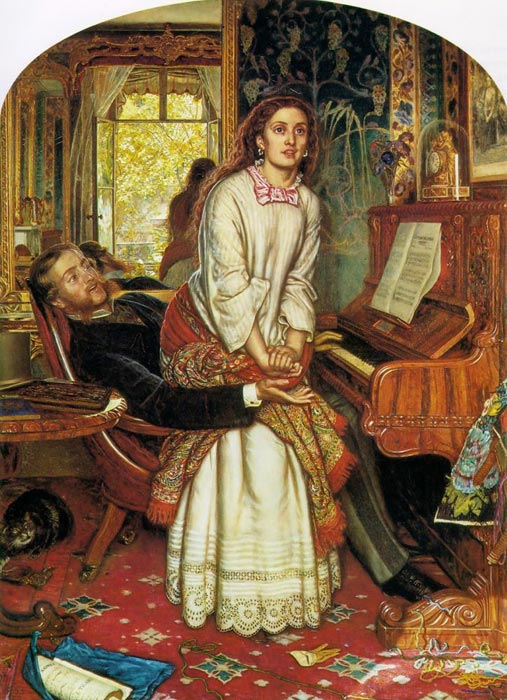 Paintings Reproductions Hunt, William Holman The Awakening Conscience, 1853
