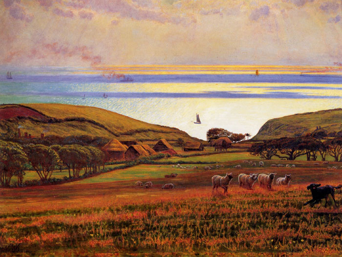 Paintings Reproductions Hunt, William Holman Fairlight Downs, Sunlight on the Sea