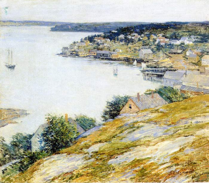Paintings Reproductions Metcalf, Willard Leroy East Boothbay Harbor, 1904