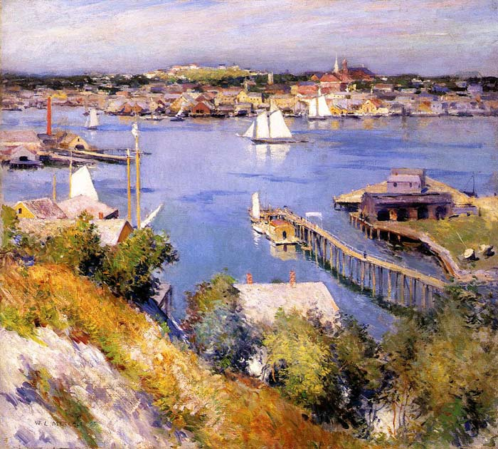 Paintings Reproductions Metcalf, Willard Leroy Gloucester Harbor, 1895