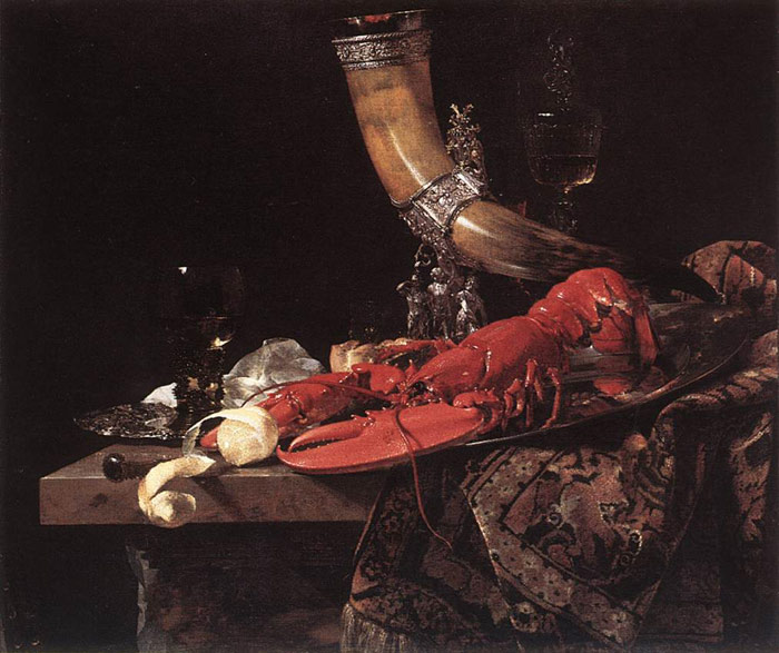 Paintings Reproductions Kalf, Willem Still-Life with Drinking-Horn, c. 1653