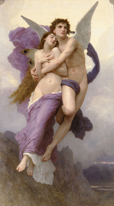 William Bouguereau  Reproductions-Le Ravissement de Psyche [The Rapture of Psyche], 1895