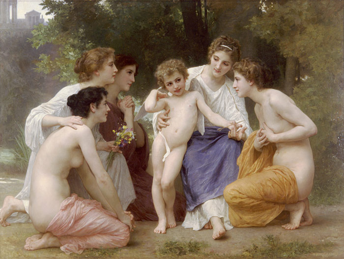 Paintings Reproductions Bouguereau, William L'admiration [Admiration], 1897
