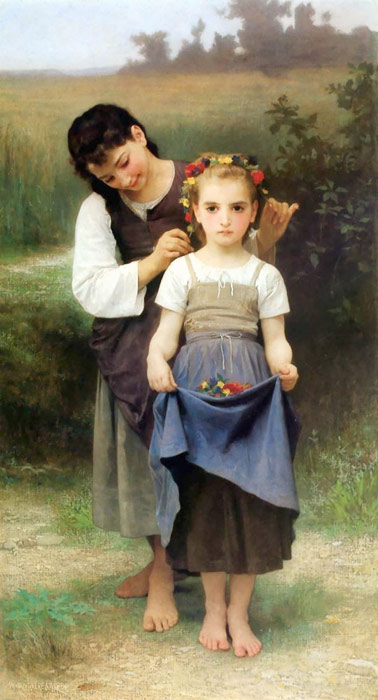 Paintings Reproductions Bouguereau, William Parure des Champs [The Jewel of the Fields], 1884