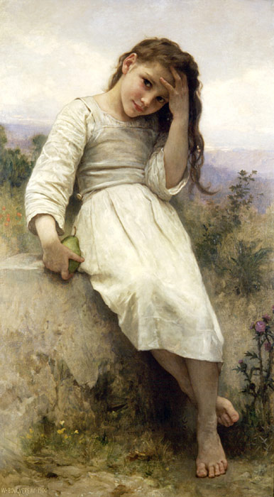 William Bouguereau  Reproductions-Petite Maraudeuse [Little Thieves], 1900