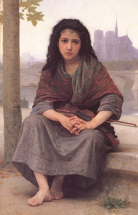 William Bouguereau  Reproductions-Bohemienne [The Bohemian], 1890