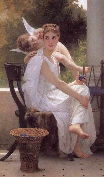 Paintings Reproductions Bouguereau, William Le Travail Interrompu [Work Interrupted], 1891
