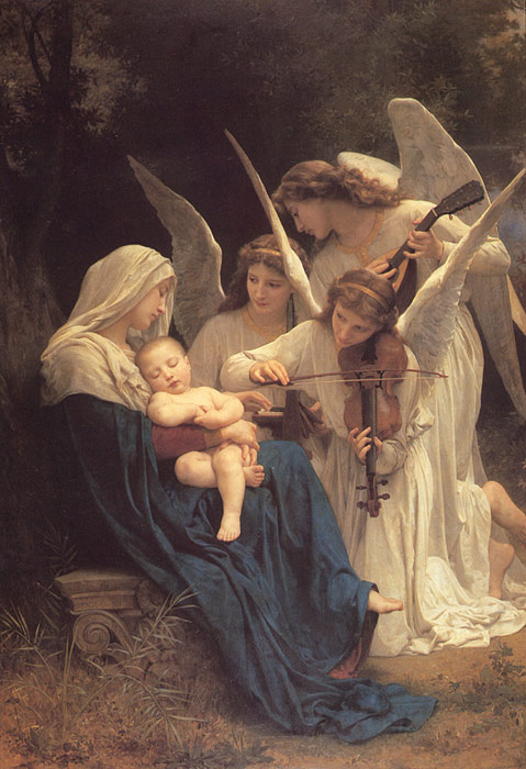 Paintings Reproductions Bouguereau, William La Vierge aux Anges [The Virgin with Angels], 1881
