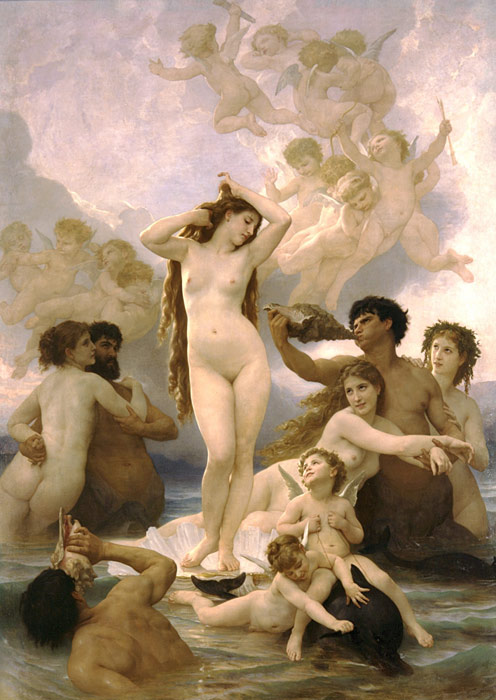 Paintings Reproductions Bouguereau, William Naissance de Venus [Birth of Venus], 1879