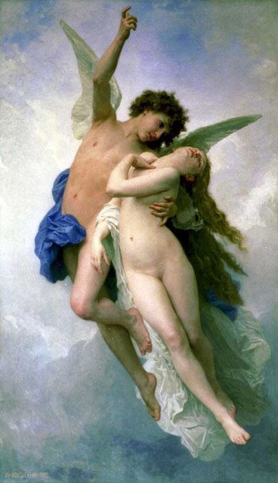 William Bouguereau Reproductions-Psyche et L'Amour [Psyche and Cupid], 1889