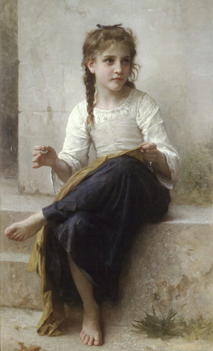William Bouguereau Reproductions-La couturiere [Sewing], 1898