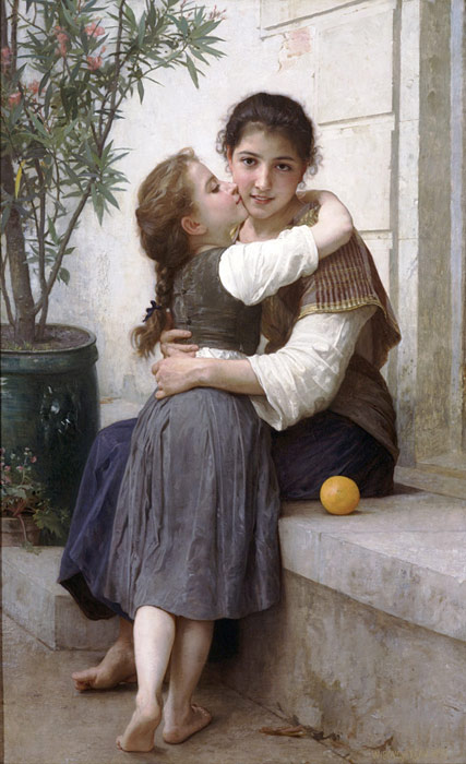 William Bouguereau Reproductions-Calinerie [A Little Coaxing], 1890