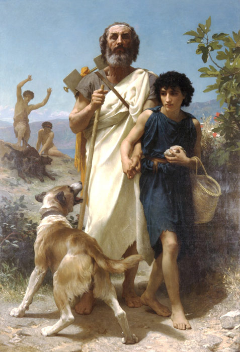 Paintings Reproductions Bouguereau, William Homere et son Guide [Homer and his Guide], 1874