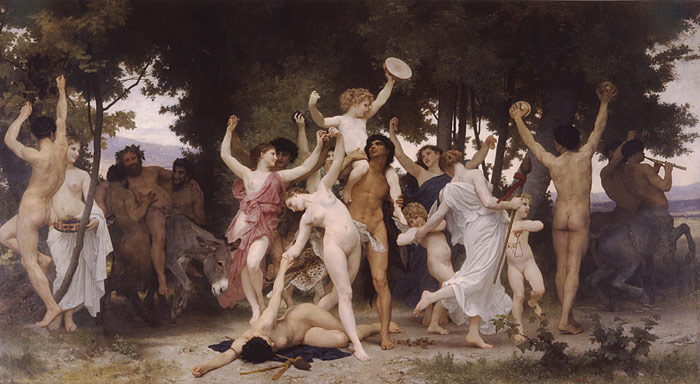Paintings Reproductions Bouguereau, William La Jeunesse de Bacchus [The Youth of Bacchus], 1884