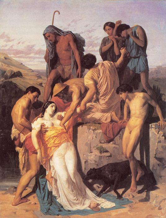 William Bouguereau Reproductions-Zenobia Found by Shepherds on the Banks of the Araxes, 1850