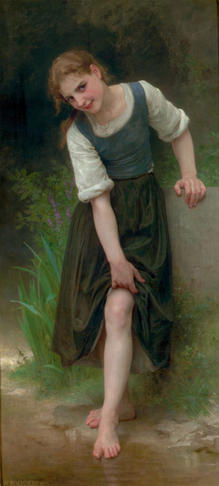 William Bouguereau Reproductions-Le Gu? [The Ford], 1895