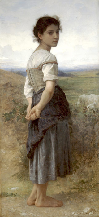William Bouguereau Reproductions-Jeune Bergere [Young Shepherdess], 1885