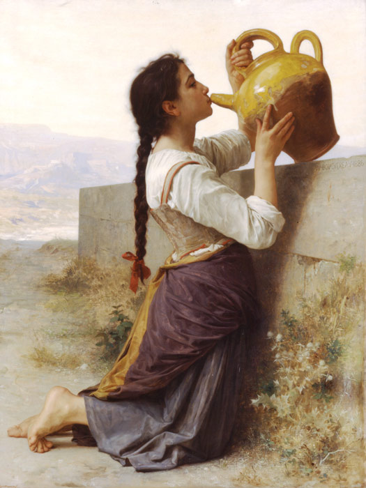William Bouguereau Reproductions-La Soif [Thirst], 1886