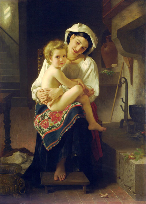 William Bouguereau Reproductions-Le Lever [Up You Go], 1871