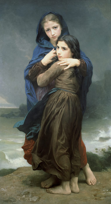 Paintings Reproductions Bouguereau, William L'Orage [The Storm], 1874