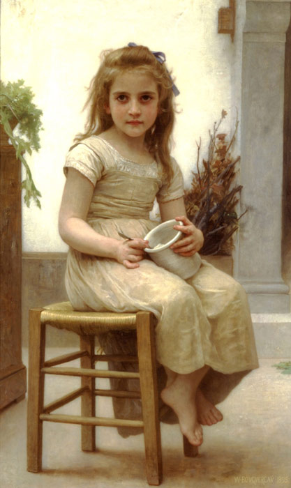 Paintings Reproductions Bouguereau, William Le Goeter [Just a Taste], 1895