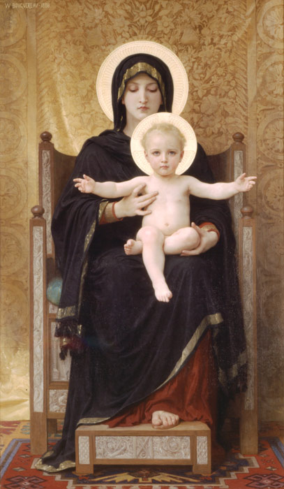 Paintings Reproductions Bouguereau, William Madone Assise [The Seated Madonna], 1888
