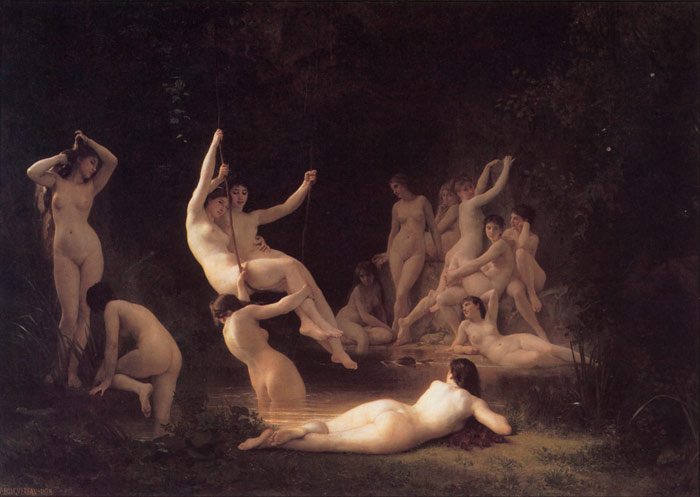 Paintings Reproductions Bouguereau, William La Nymphee [The Nymphaeum], 1878
