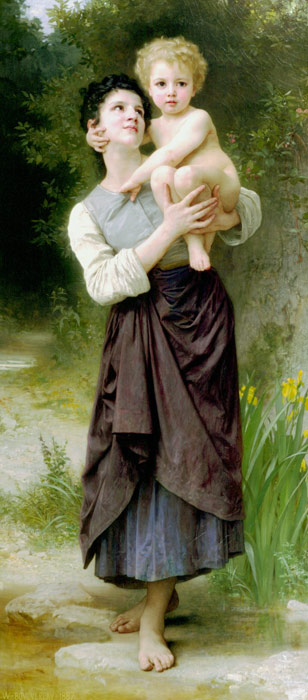 Paintings Reproductions Bouguereau, William Brother and Sister, 1887