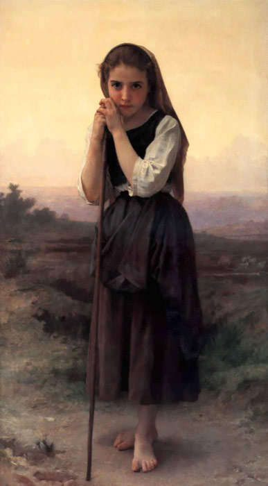 Paintings Reproductions Bouguereau, William Petite Bergere [Little Shepherdess], 1891