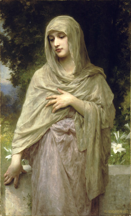Paintings Reproductions Bouguereau, William Modestie [Modesty],  1902