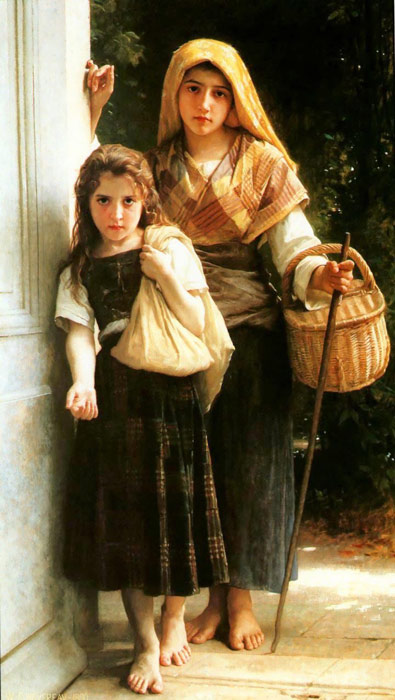 Paintings Reproductions Bouguereau, William Petites mendiantes [Little beggars]