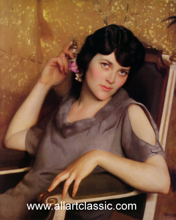 William McGregor Paxton   Reproductions-Pretty Girl, 1926