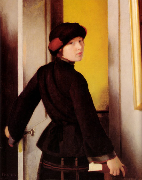 William McGregor Paxton   Reproductions-Leaving the Studio, 1912
