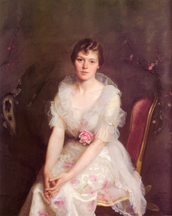 William McGregor Paxton   Reproductions-Portrait of Louise Converse, 1915