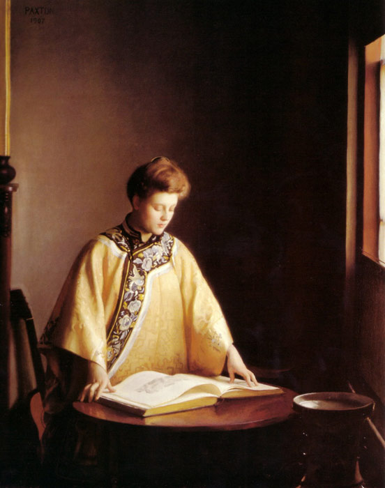William McGregor Paxton   Reproductions-The Yellow Jacket, 1907
