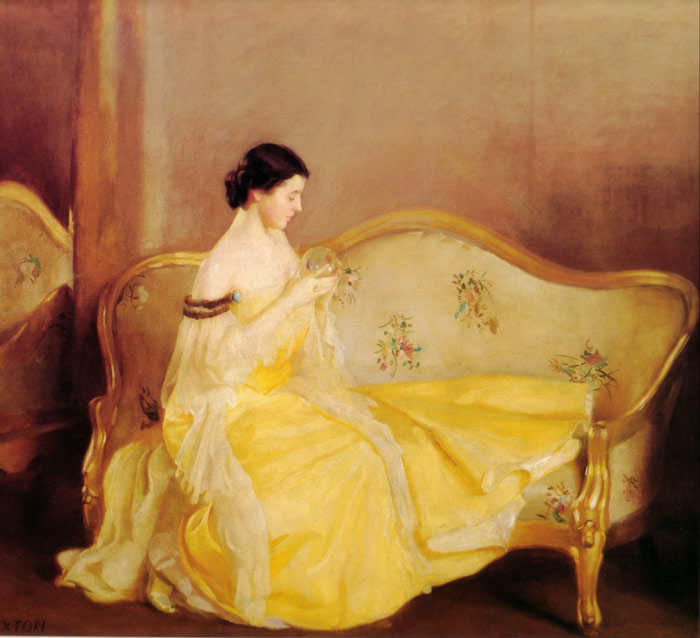William McGregor Paxton   Reproductions-The Crystal, 1900