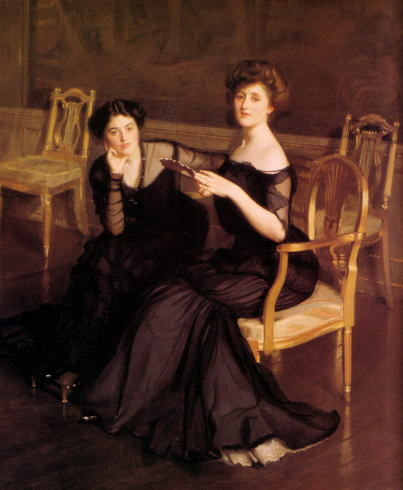 William McGregor Paxton   Reproductions-The Sisters, 1904