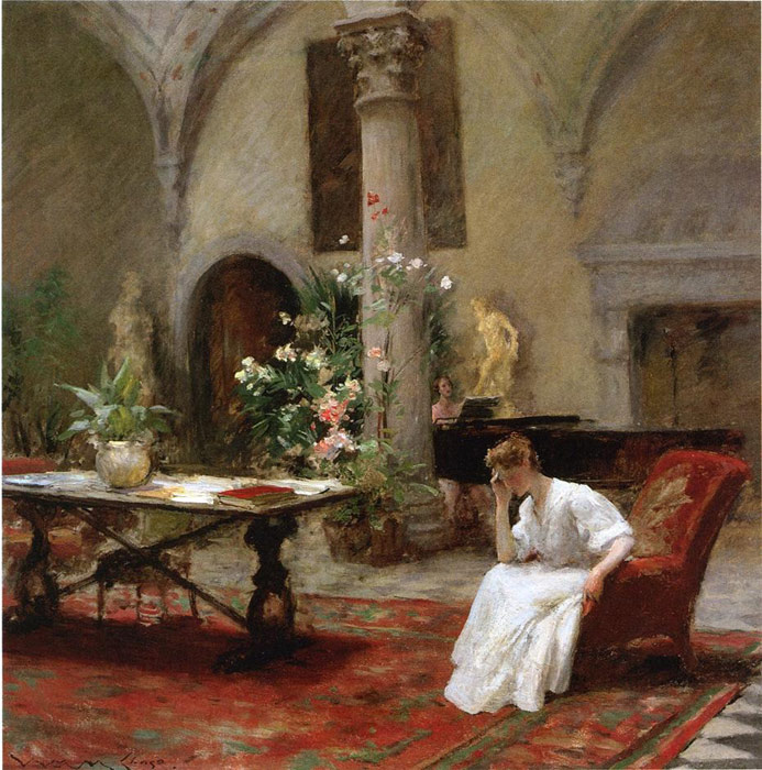 William Merritt Chase Reproductions-The Song, 1907