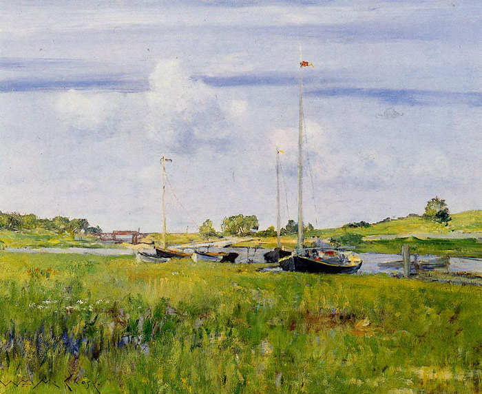 Paintings Reproductions Chase, William Merritt At the Boat Landing, 1902