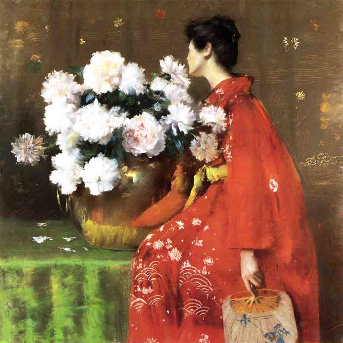 William Merritt Chase Reproductions-Peonies, 1897