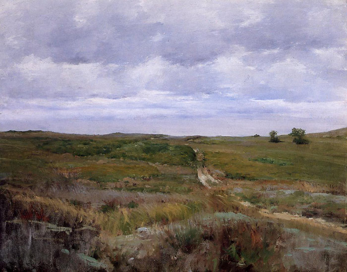 William Merritt Chase Reproductions-Over the Hills and Far Away, 1897