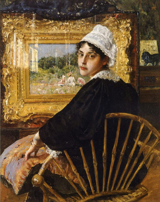 William Merritt Chase Reproductions-A Study aka The Artist's Wife, 1892