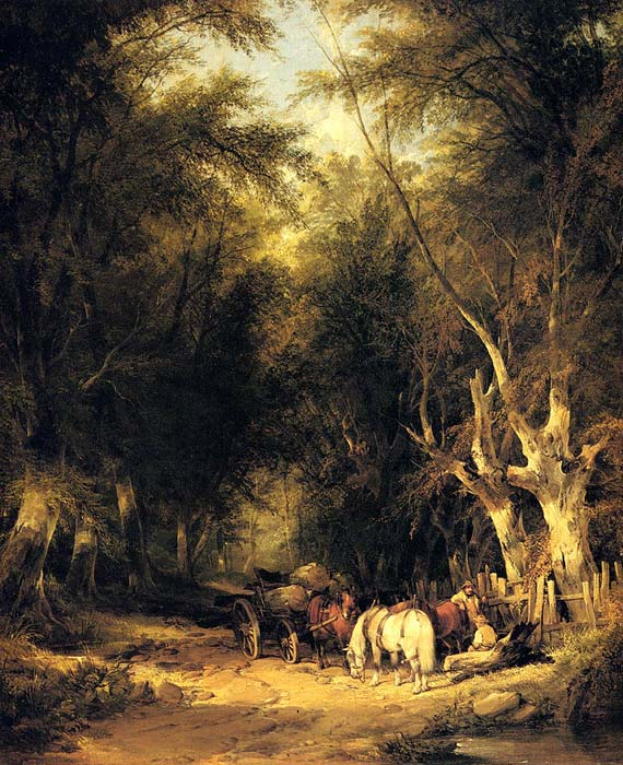 William Shayer Reproductions-In The New Forest